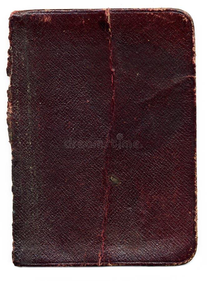 Vecchia struttura di cuoio rotta del libro immagine stock