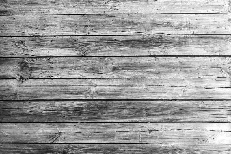 Vecchia struttura di legno in bianco e nero con il fondo naturale dei modelli fotografia stock libera da diritti