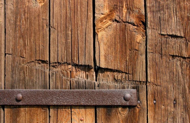 Vecchia struttura di legno del portello fotografia stock