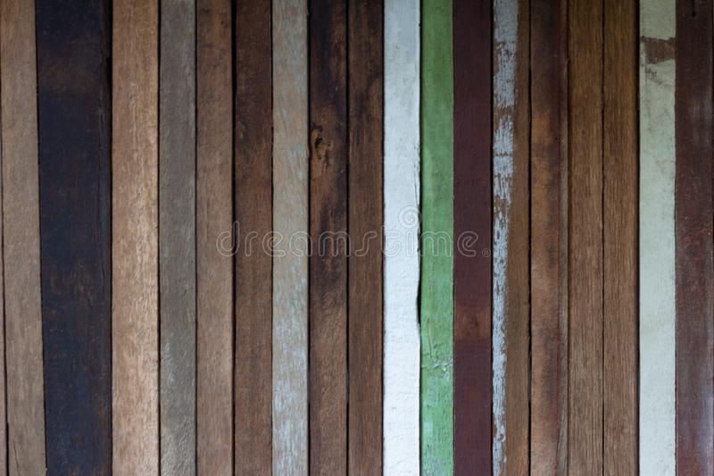 vecchia struttura di legno della parete della plancia, uso come fondo fotografia stock