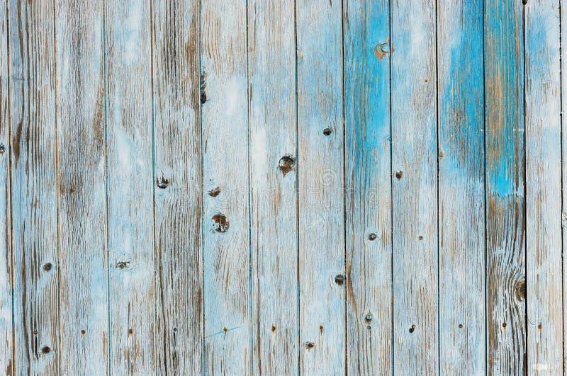 Vecchia struttura di legno dipinta grigia blu del fondo delle plance immagini stock libere da diritti