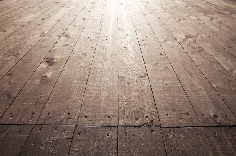 Vecchia struttura di legno marrone della foto del fondo del pavimento fotografie stock