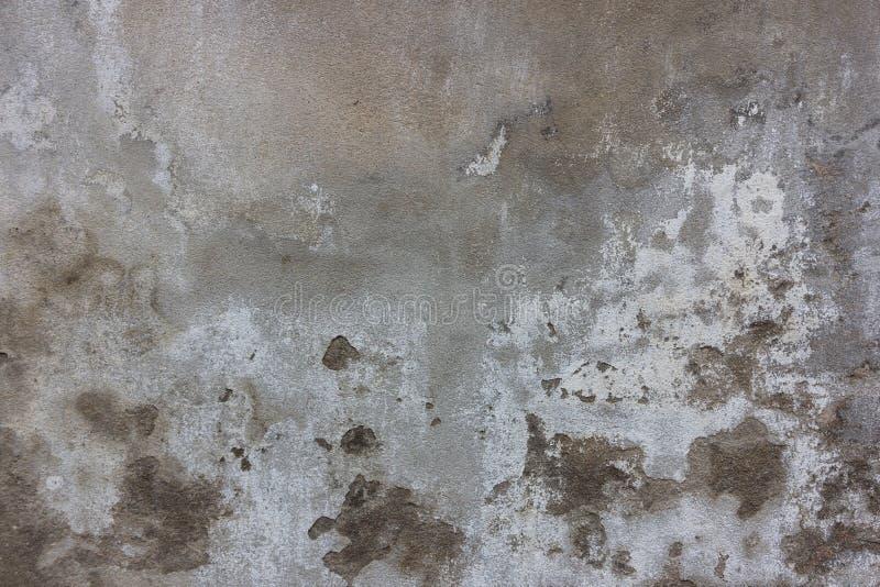 Vecchia struttura grigia con la crepa, uso del cemento come fondo immagine stock