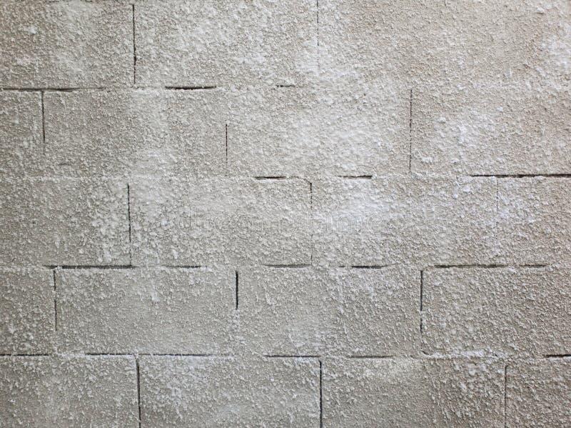 Vecchia struttura grigia della parete di muratura di pietra fatta dei blocchetti di schiuma o dei airblocks Superficie astratta i fotografie stock