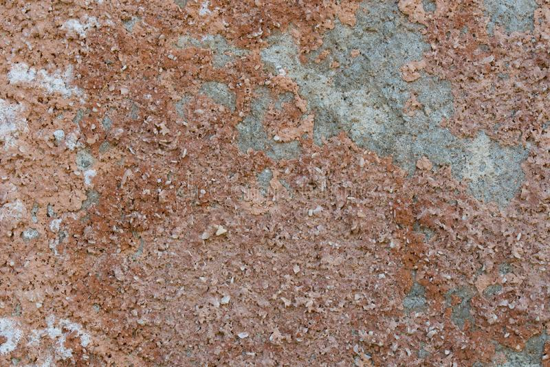 Vecchia struttura intonacata marrone obsoleta del fondo della parete fotografia stock libera da diritti