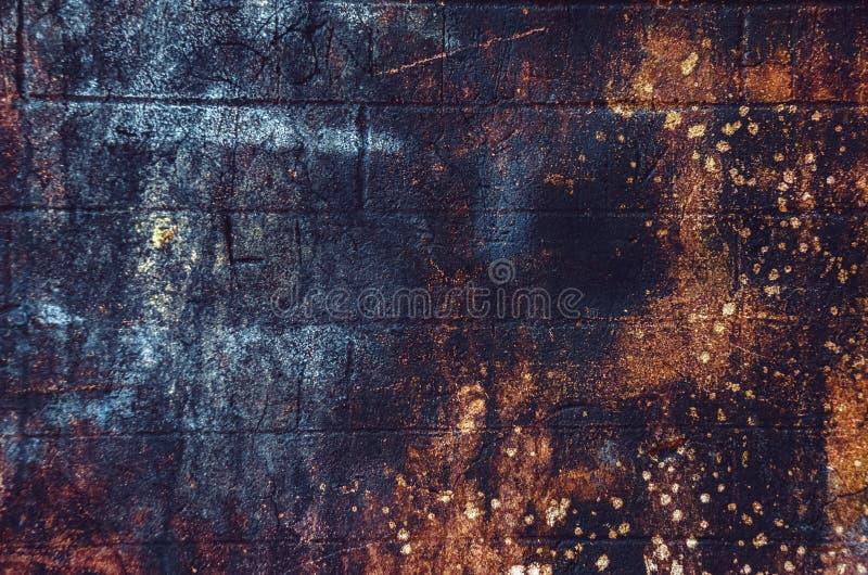 Vecchia, struttura invecchiata, arrugginita, graffiata, variopinta/fondo immagine stock libera da diritti