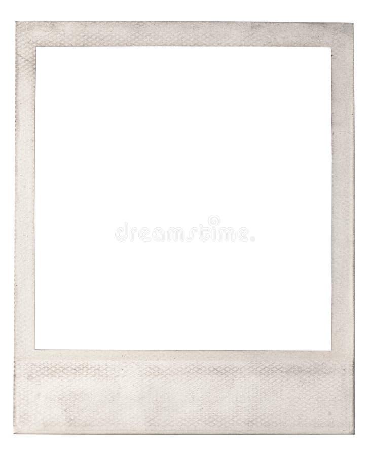 Vecchia struttura istantanea in bianco della foto immagini stock