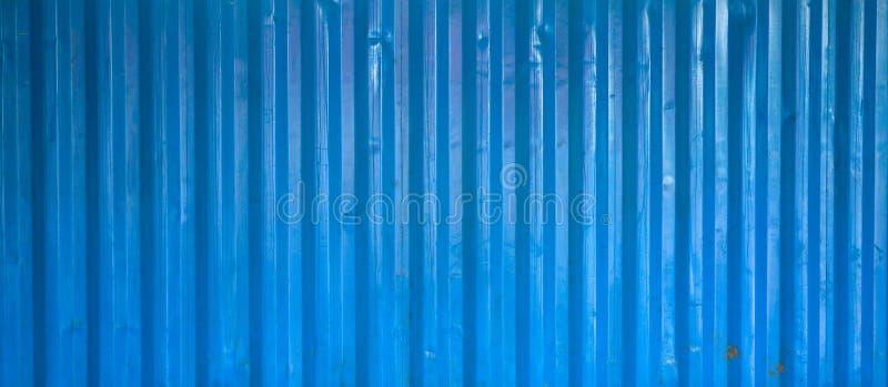 Vecchia superficie ondulata blu di struttura del metallo fotografia stock libera da diritti