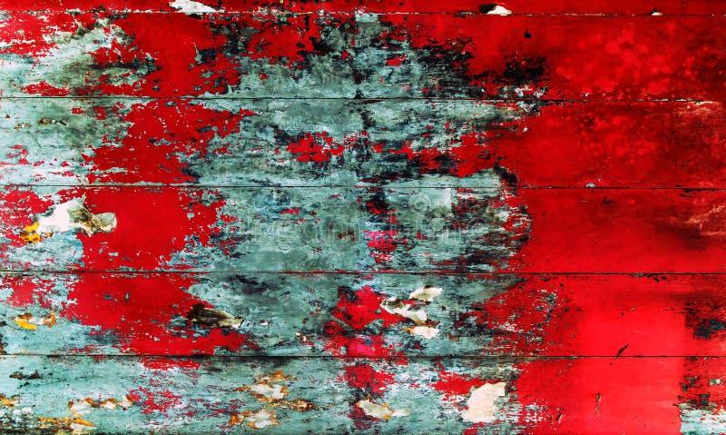 vecchia superficie planked rossa di legno del pavimento di colore fotografia stock