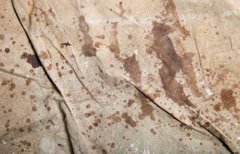 Vecchia tela cerata di tela del telo di protezione del fondo astratto fotografie stock libere da diritti