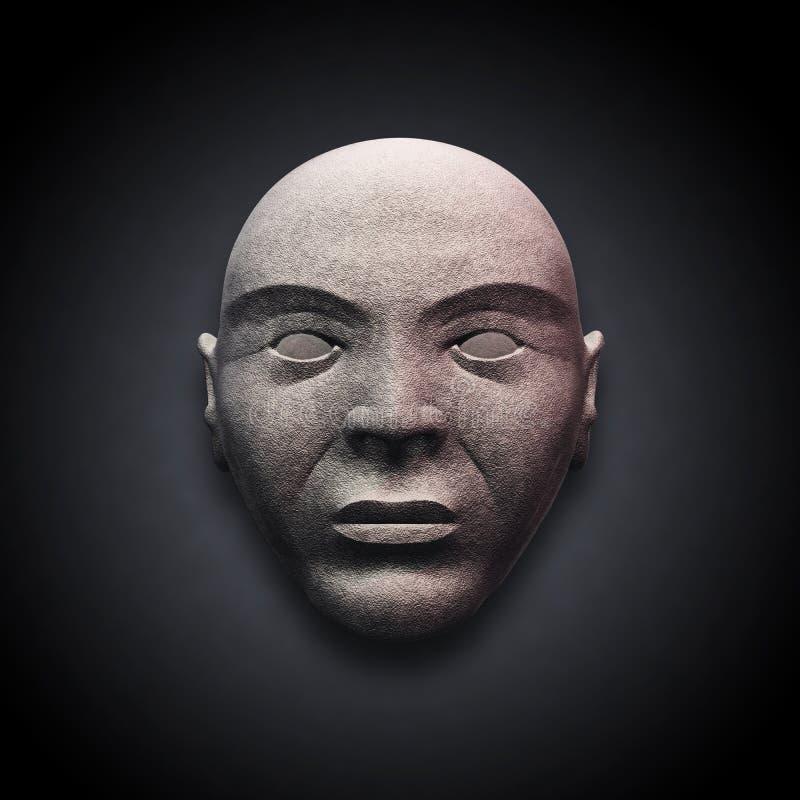 Vecchia testa di pietra illustrazione vettoriale