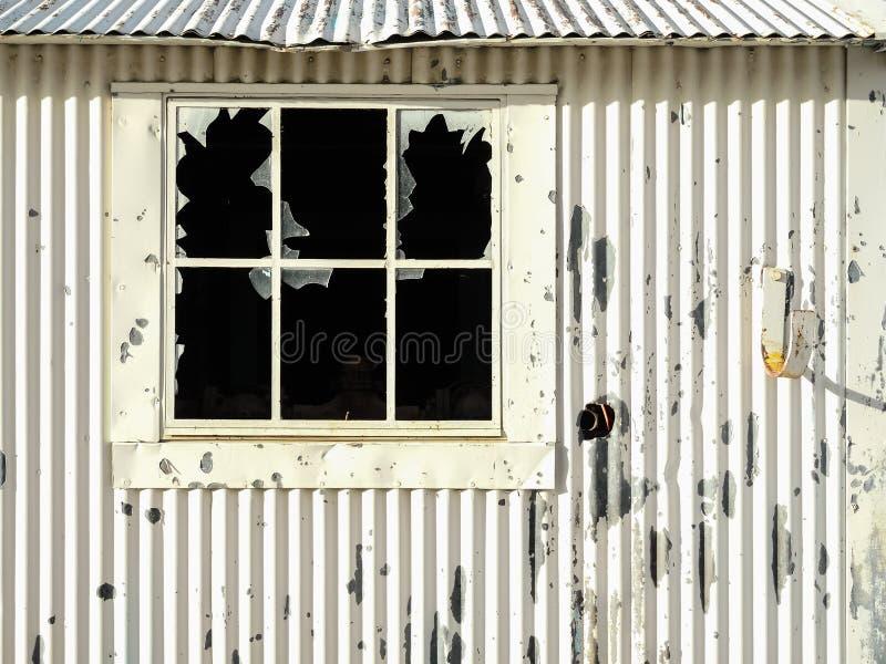 Vecchia tettoia dell'iarda della ferrovia immagine stock