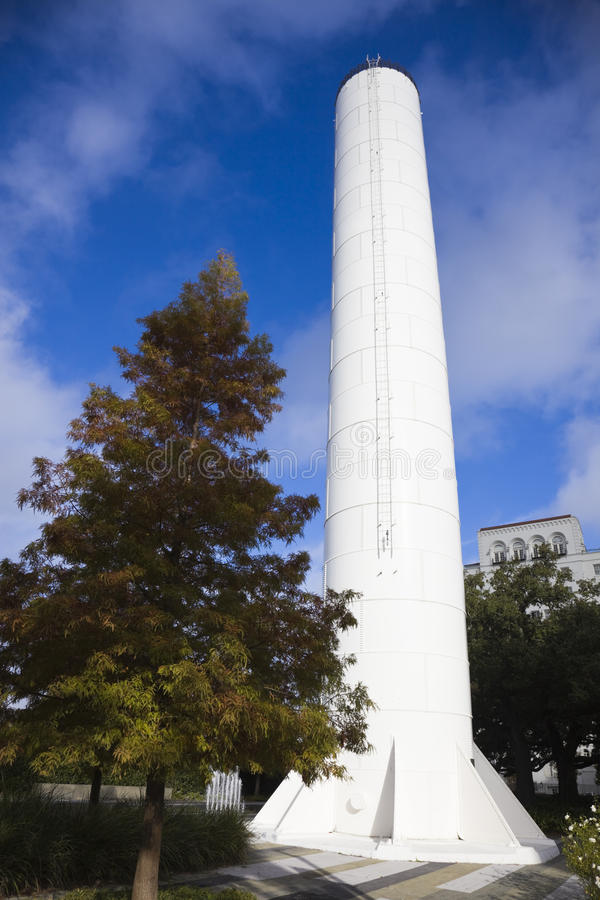 Vecchia torretta di acqua a Baton Rouge fotografia stock