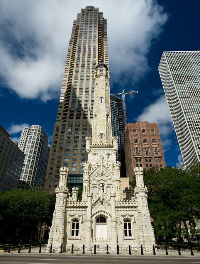 Vecchia torretta di acqua, Chicago fotografia stock