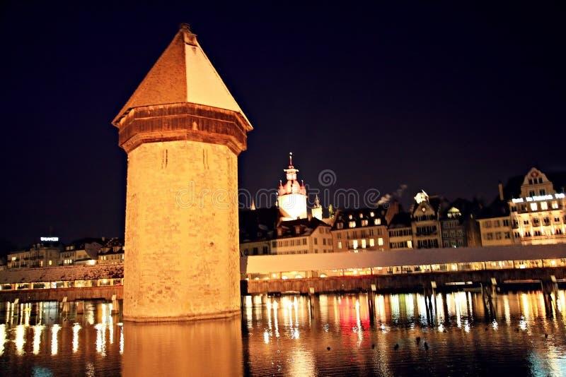 Vecchia torretta di Lucerna fotografie stock