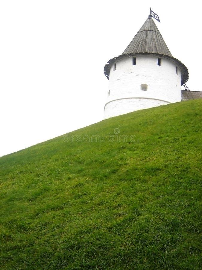 Vecchia torretta a Kazan Kremlin, Russia fotografia stock