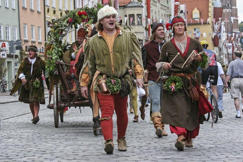 Vecchia tradizione - nozze del ` s di principe in Landshut fotografie stock libere da diritti