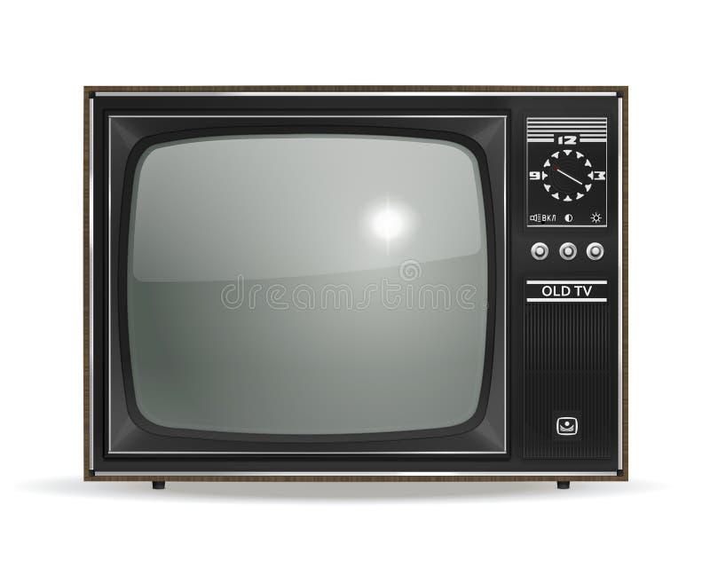 Vecchia TV illustrazione vettoriale