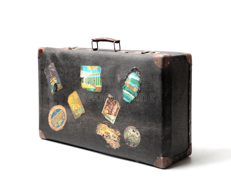 Vecchia valigia fotografie stock