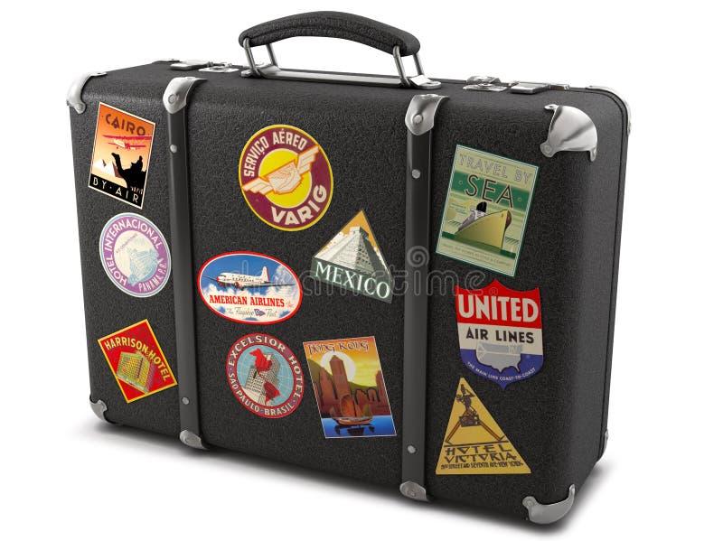 Vecchia valigia illustrazione vettoriale
