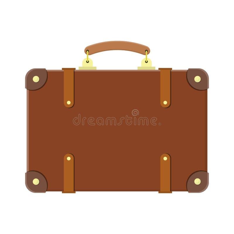 Vecchia valigia d'annata di viaggio illustrazione vettoriale