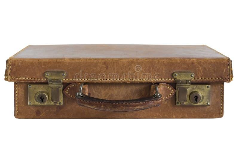 Vecchia valigia di cuoio fotografie stock libere da diritti