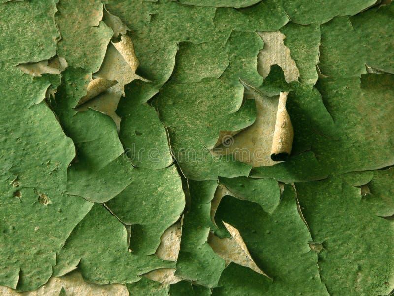 Vecchia vernice verde fotografia stock