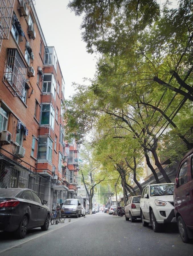 Vecchia via 4 del vicolo di Pechino immagine stock libera da diritti