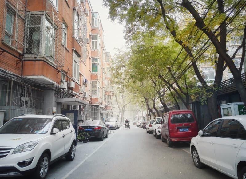 Vecchia via 6 del vicolo di Pechino immagine stock