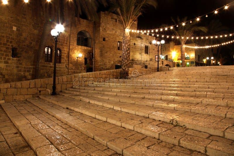 Vecchia via della città del Jaffa, Tel Aviv fotografie stock libere da diritti