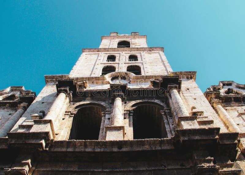 Vecchia via di Avana in Cuba, Caribbeans immagini stock libere da diritti