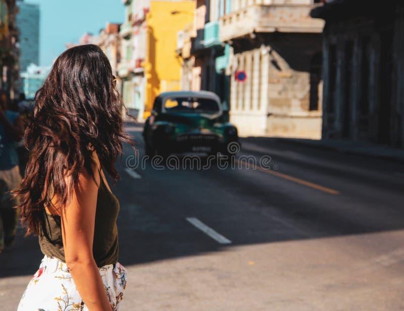 Vecchia via di Avana in Cuba, Caribbeans fotografie stock libere da diritti
