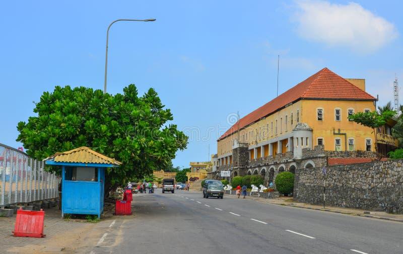 Vecchia via di Colombo, Sri Lanka fotografia stock libera da diritti