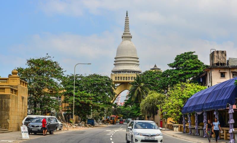 Vecchia via di Colombo, Sri Lanka immagine stock