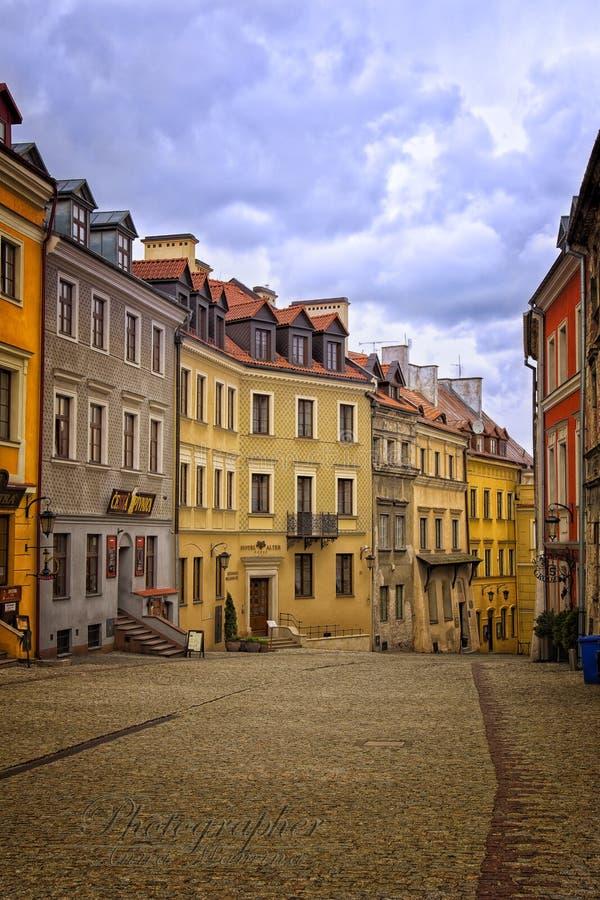Vecchia via di Lublino fotografia stock libera da diritti