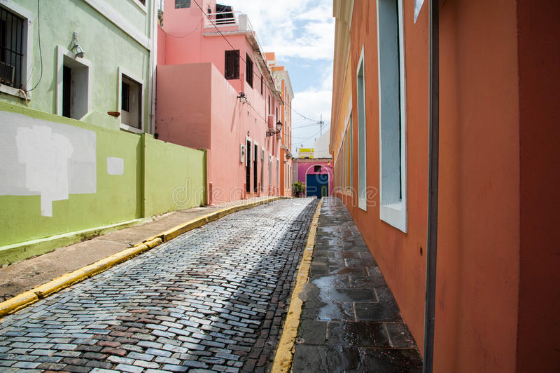 Vecchia via di San Juan immagine stock