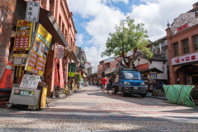 Vecchia via di Shenkeng - il capitale in Taipei, Taiwan del tofu immagine stock libera da diritti