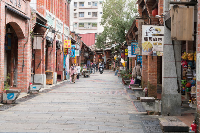 Vecchia via di Shenkeng - il capitale in Taipei, Taiwan del tofu fotografie stock libere da diritti
