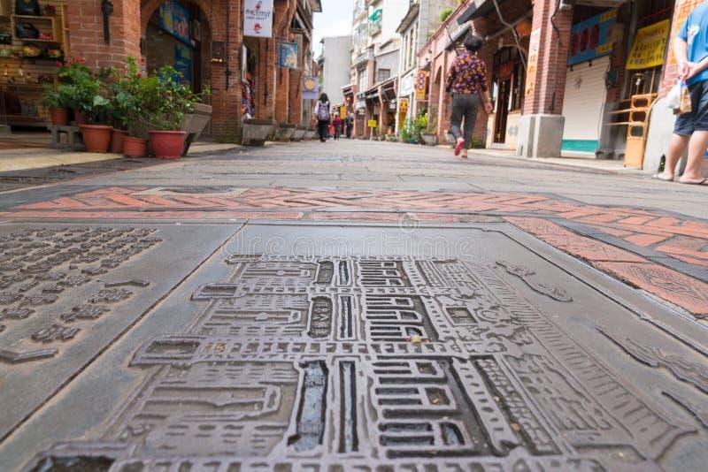 Vecchia via di Shenkeng - il capitale in Taipei, Taiwan del tofu fotografia stock
