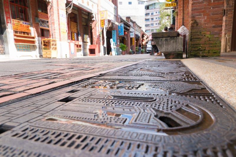 Vecchia via di Shenkeng - il capitale in Taipei, Taiwan del tofu immagini stock