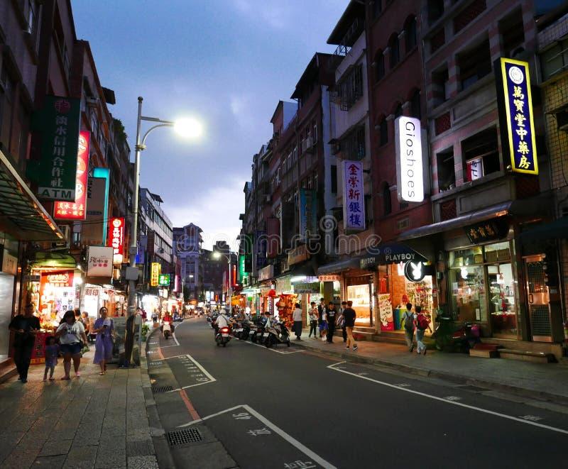 Vecchia via di Tamsui in Taipei immagini stock libere da diritti