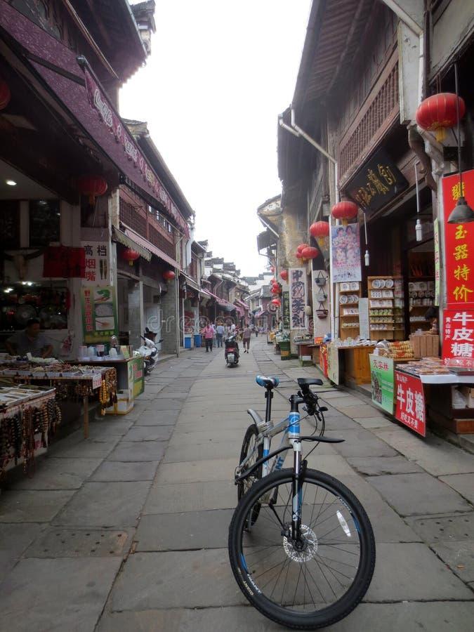 Vecchia via di Tunxi, huangshan, l'Anhui, Cina immagini stock