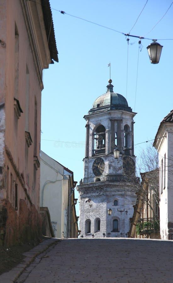 Vecchia via di Vyborg (Russia) immagine stock libera da diritti