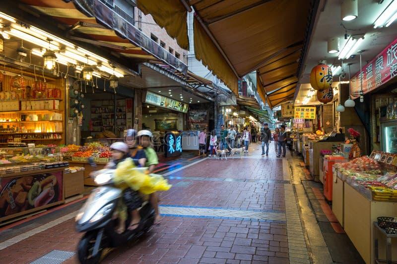 Vecchia via di Wulai in Wulai, Taiwan immagini stock