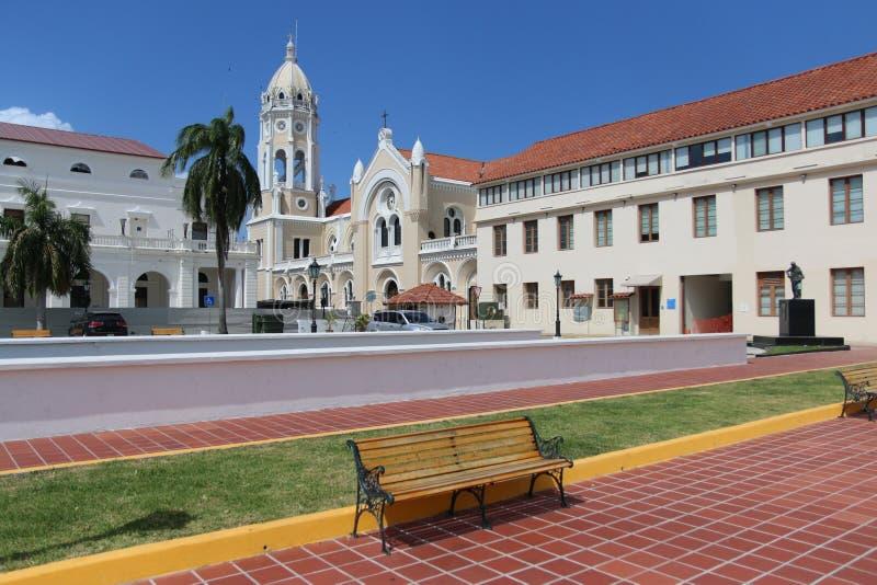Vecchia vista della città di Panamá fotografie stock libere da diritti