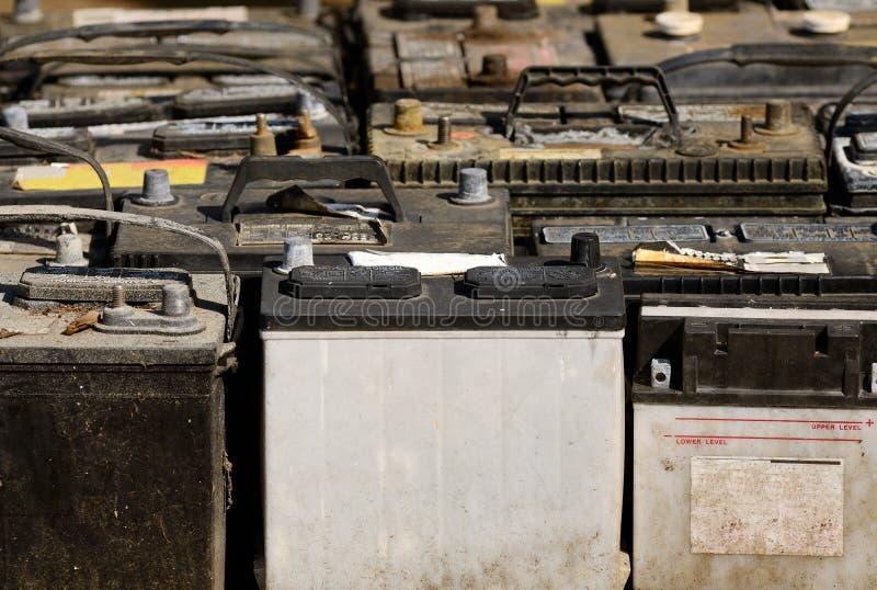 Vecchie batterie fotografie stock