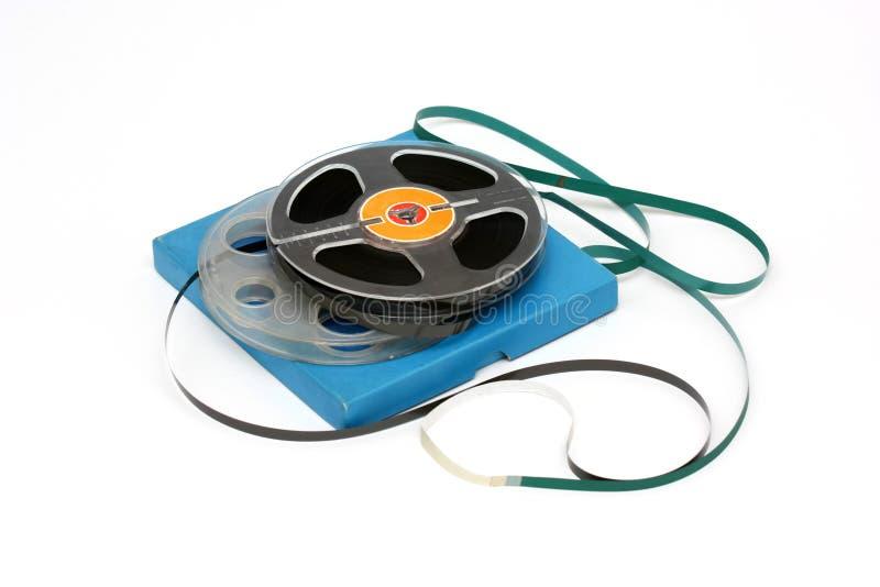 Vecchie bobine della cassetta audio fotografia stock