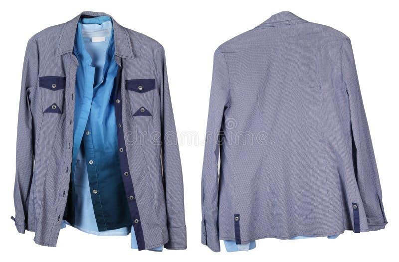 Vecchie camice femminili sgualcite e rivestimenti di fabbricazione in serie che appendono o immagini stock libere da diritti