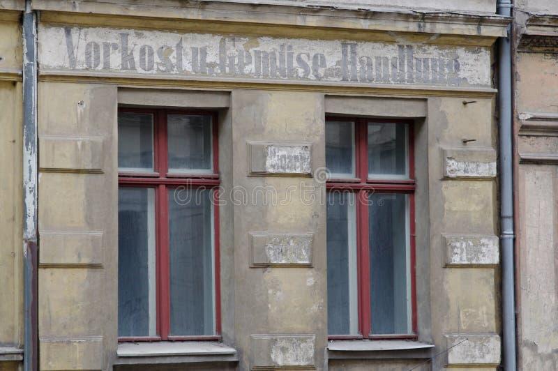 Vecchie case in Goerlitz fotografia stock libera da diritti
