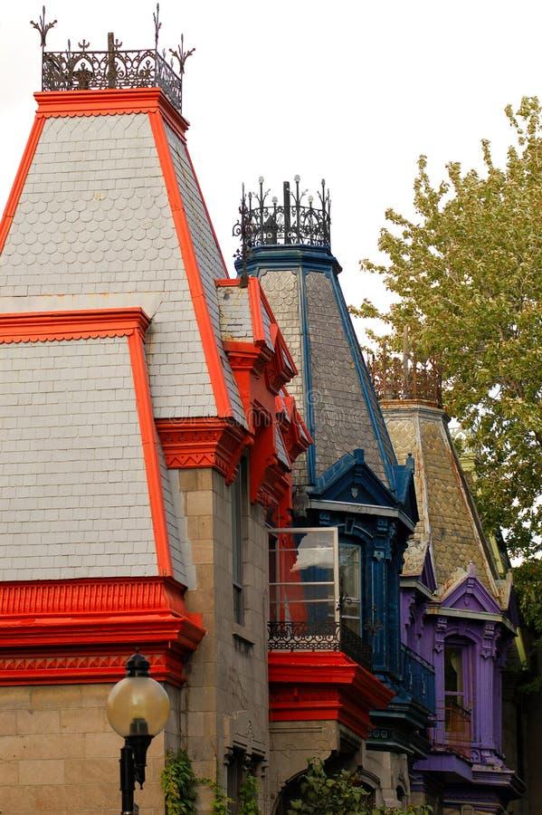Vecchie case a Montreal, Canada. fotografia stock libera da diritti